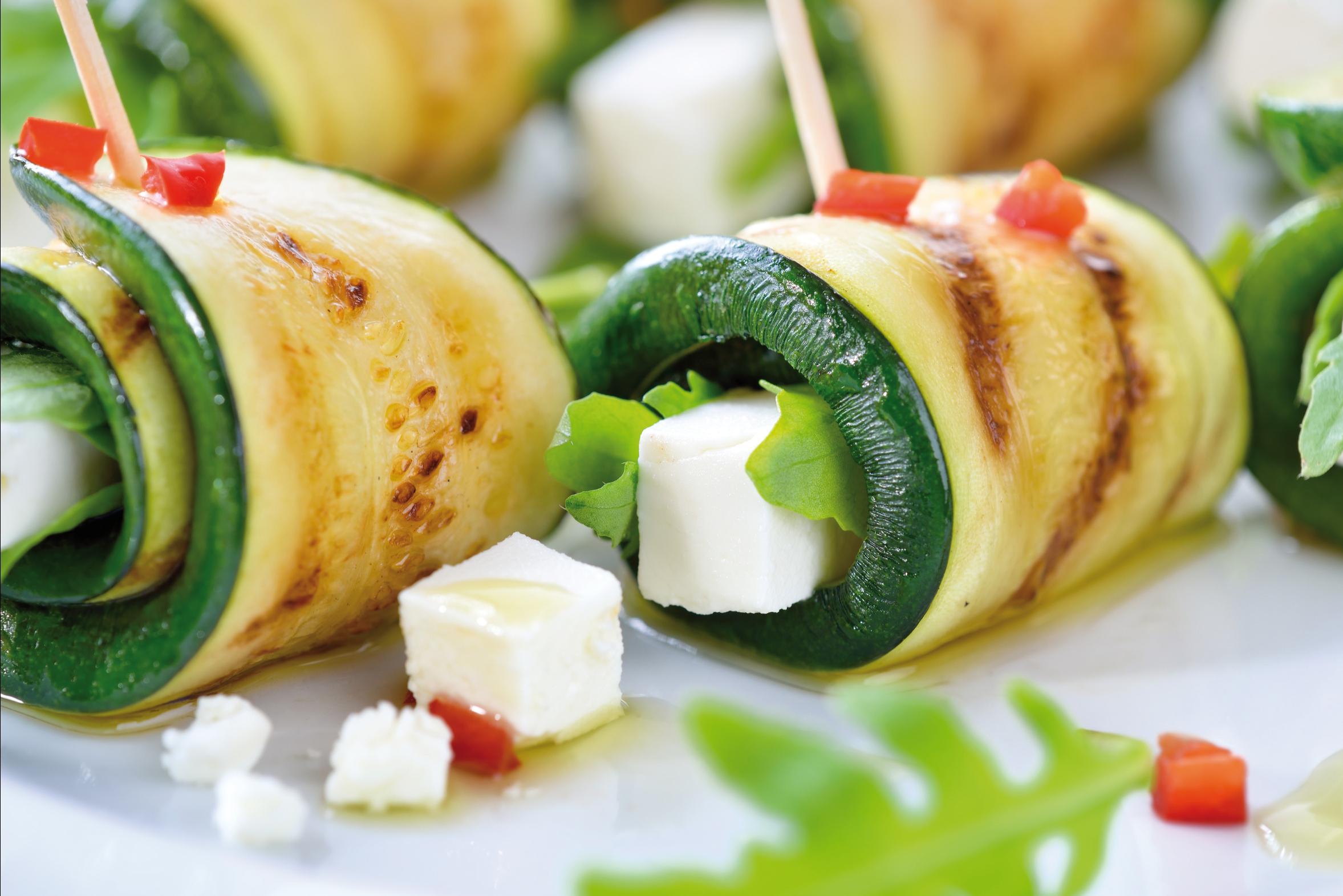 Gefullte Zucchini Rollchen